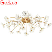 Modern Flower Crystal Led Chandelier Light G4 Led lustre Ceiling Plafon Lamps For Living Room Chandeliers Design Light Fixture