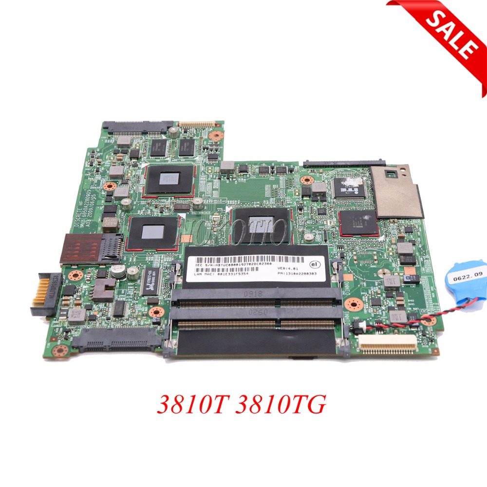 NOKOTION MBTUC0B001 MB.TUC0B.001 laptop motherboard For acer aspire 3810T 3810TG 1310A2280303 6050A2280901 Main board full test nokotion laptop mainboard for acer 3810t sjm31 motherboard 6050a2280901 mbtv90b001 1310a2280317 ddr3 full tested free shipping