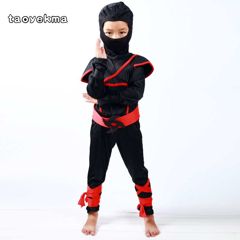 Classic Halloween Costumes Ninja Costume Martial Arts Ninja Costumes For Kids Fancy Party Decorations Supplies Uniforms