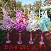 5ft Tall white Artificial Cherry Blossom Tree wedding Road Leads Mall Opened Props flower decoration