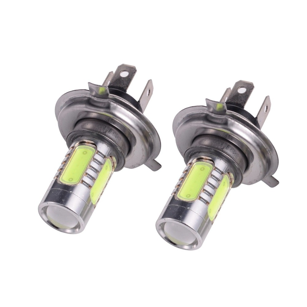 CYAN SOIL BAY 2X H4 9003 HB2 Bulb Crystal Ice Blue 5 COB LED 7.5W Fog Light Lamp DC 12-24V P43t High Low Beam Hi/lo