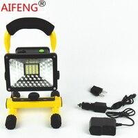 30W 2400LM portable hunting spotlights camping spotlight 12V 24V car recharging charger 18650 led spot light handheld fishing
