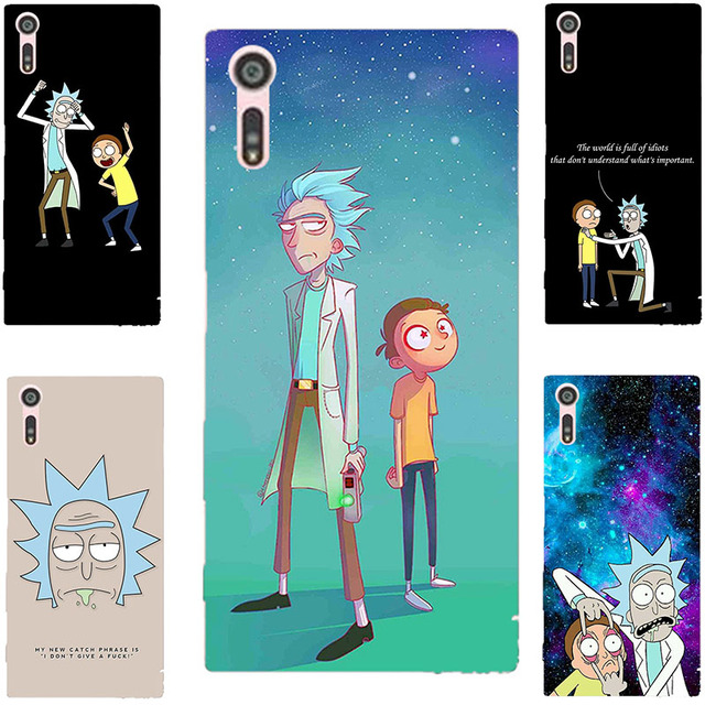 Rick and Morty Cartoon Painting Case For Sony Xperia E5 M5 Z3 Z4 Z5 X XZ XZs XA L1 XA1 XZ1 1 Ultra Compact Plus Printed Cover