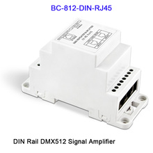 BC-812-DIN/BC-812-DIN-RJ45 DC12-24V DIN Rail led DMX512 Signal Amplifier One input channel,two output channels DMX controller