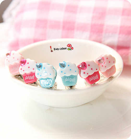720 New Arrival Cute Cake Shape Ear Clips Children Clip Earrings Girl Resin Ear Clips FD964