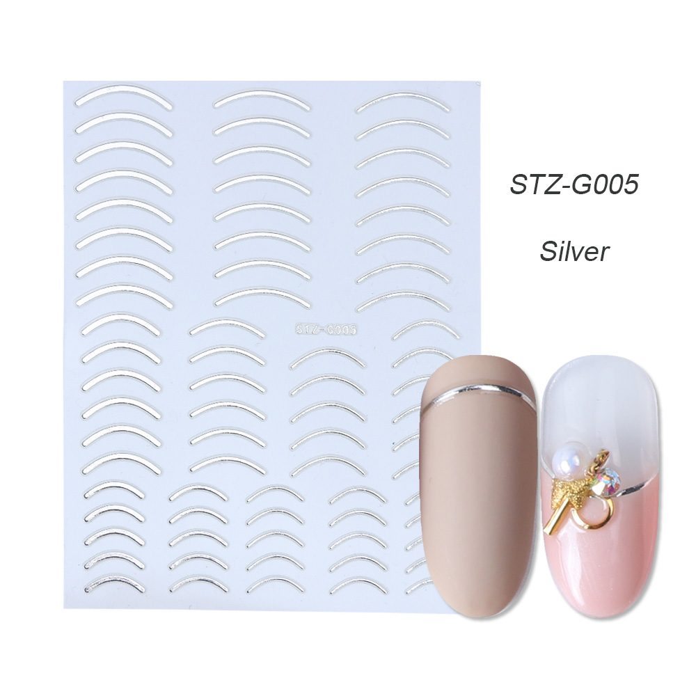gold silver 3D stickers STZ-G005 Silver