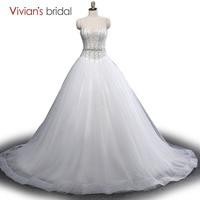 Vivian's Bridal Sexy Luxury Ball Gown Wedding Dresses Princess Weddingdress China Bridal Country Western Bride Wedding Gowns