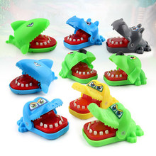 Creative Crocodile Mouth Toys Dentist Bite Finger Toy Mouth Practical Jokes Alligator Hand Stress Relief Gags Toys For Children(China)
