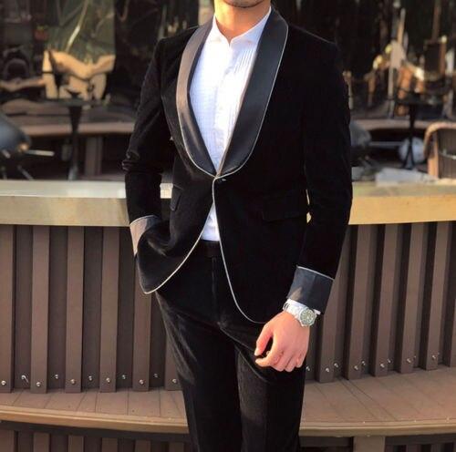 High Quality One Button Groomsmen Shawl Lapel Groom Tuxedos Men Suits Wedding/Prom Best Man Blazer ( Jacket+Pants+Tie) A146