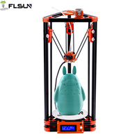 FLSUN 3D Printer Pulley Kossel Delta Auto leveling Heat bed Kit SD Card Filament Gift Fast Free Shipping Novice Player