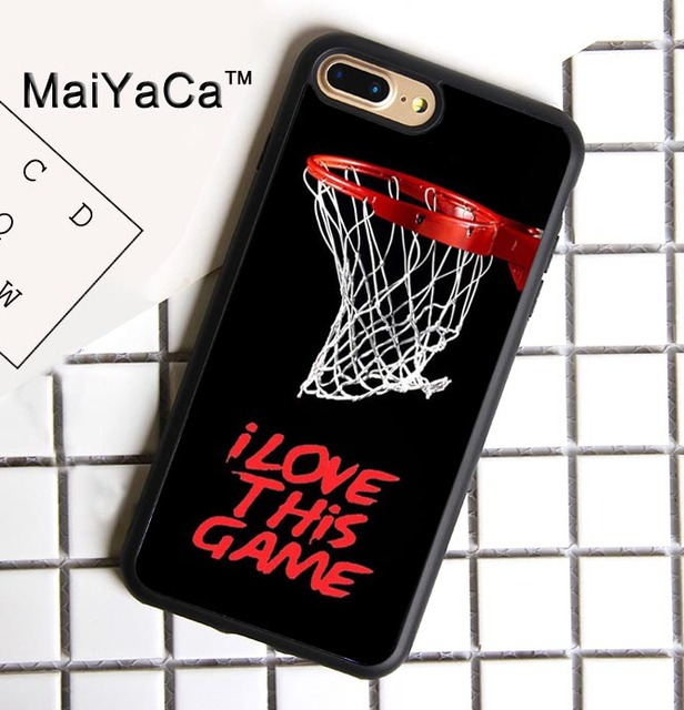 the best attitude 5dda7 bee85 MaiYaCa Basketball Net Love this Phone Case For iphone 7 Plus Accessories  Rubber TPU Case Cover For iphone 7 plus-in Fitted Cases from Cellphones &  ...