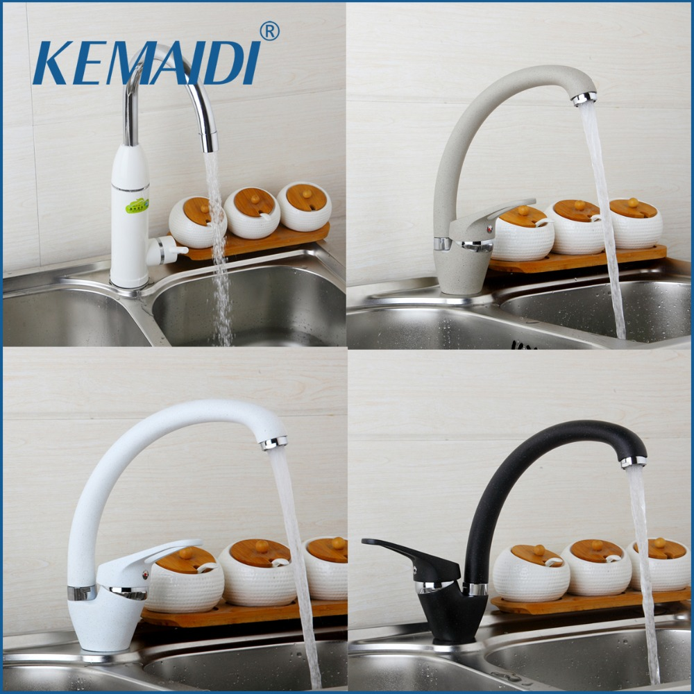 KEMAIDI Contemporary Bathroom Kitchen Deck Mounted Faucet Basin Faucet Kitchen Water Faucets Sink Mixer Painting torneira