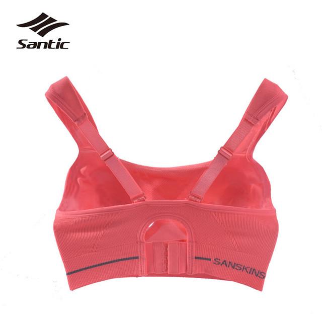 Santic Cycling Base Layer Sport Underwear Comfortable Shockproof Women Bra Running Yoga Riding Bicycle Bike Bra Ropa Ciclismo