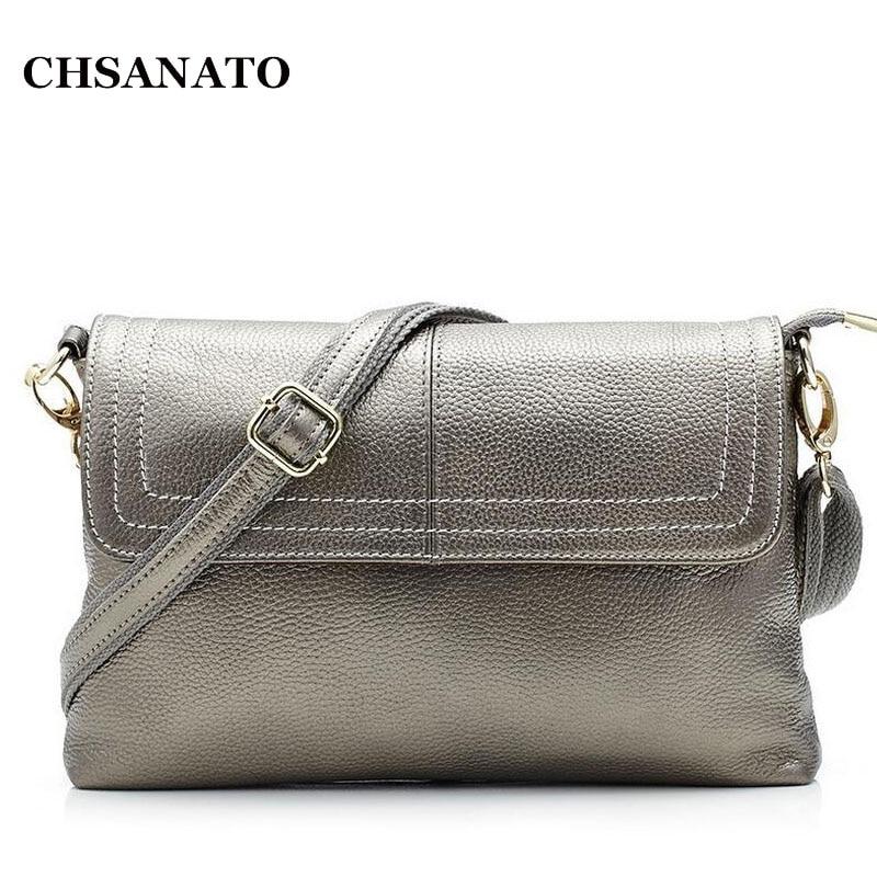 2018 Fashion Genuine Leather Women Messenger Bag Cowhide Shoulder Bag Women Satchels Crossbody Bag bolsa feminina