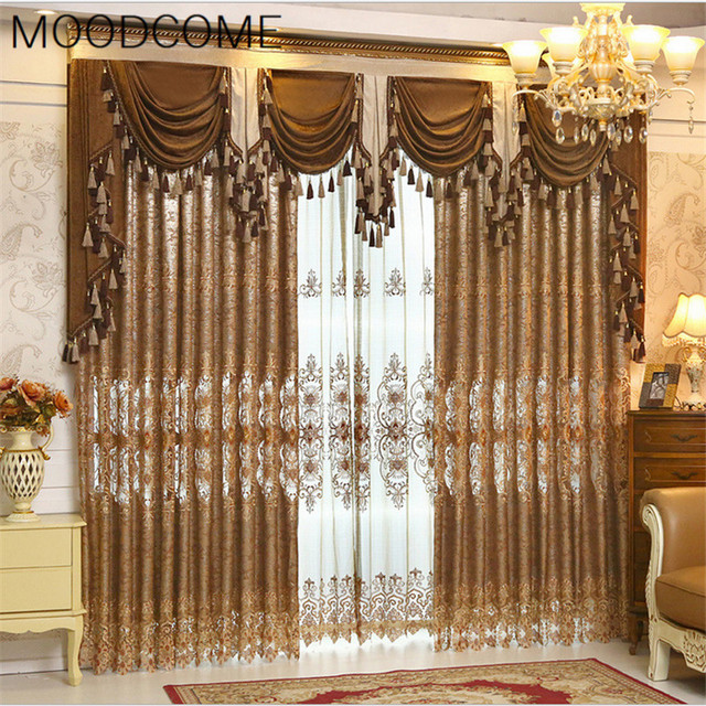 Dining Room Window Valances: Curtains For Living Dining Room Bedroom European Key 2