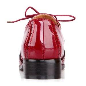 Image 4 - Fanyuan 2019 אביב נשים אוקספורד נעלי ניטראלי מחודדת מוצק צבע תפירת דירות מבוגרים משרד ליידי בטיחות עבודה נעליים
