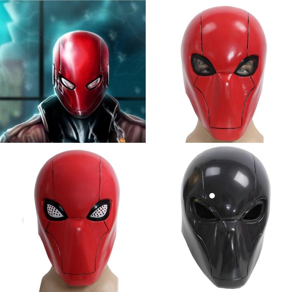 Xcoser 2016 Movie Red Hood Mask Batman Under the Red Hood Costume Helmet Full Head PVC Helmet Adult Red Cosplay Props Hot Sale