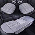 Conjuntos de Assento Do Carro de veludo Csuhion Inverno da Pele Auto Assentos Covers Acessórios Estilo Do Carro de Tamanho Universal Assento de Carro de Volta Protetor