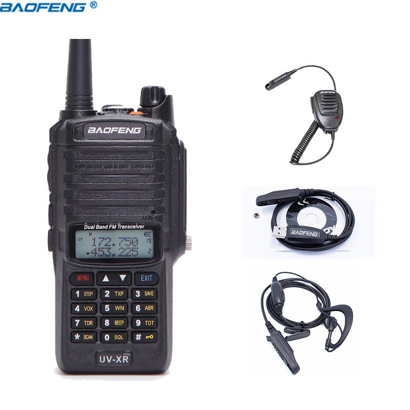 Baofeng UV-XR IP67 Waterproof Dual Band Ham Radio UVXR 4800mAh 10W powerful Walkie Talkie 10km long range Two way Handy Radio