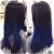 Brasileña virginal del pelo Ombre armadura brasileña del pelo Bundles azul 7A azul del pelo brasileño 1b / Blue Ombre extensiones brasileñas del pelo