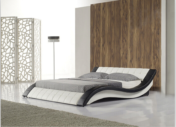 Modern Soft Bed bedroom fruniture leather soft King size and Queen