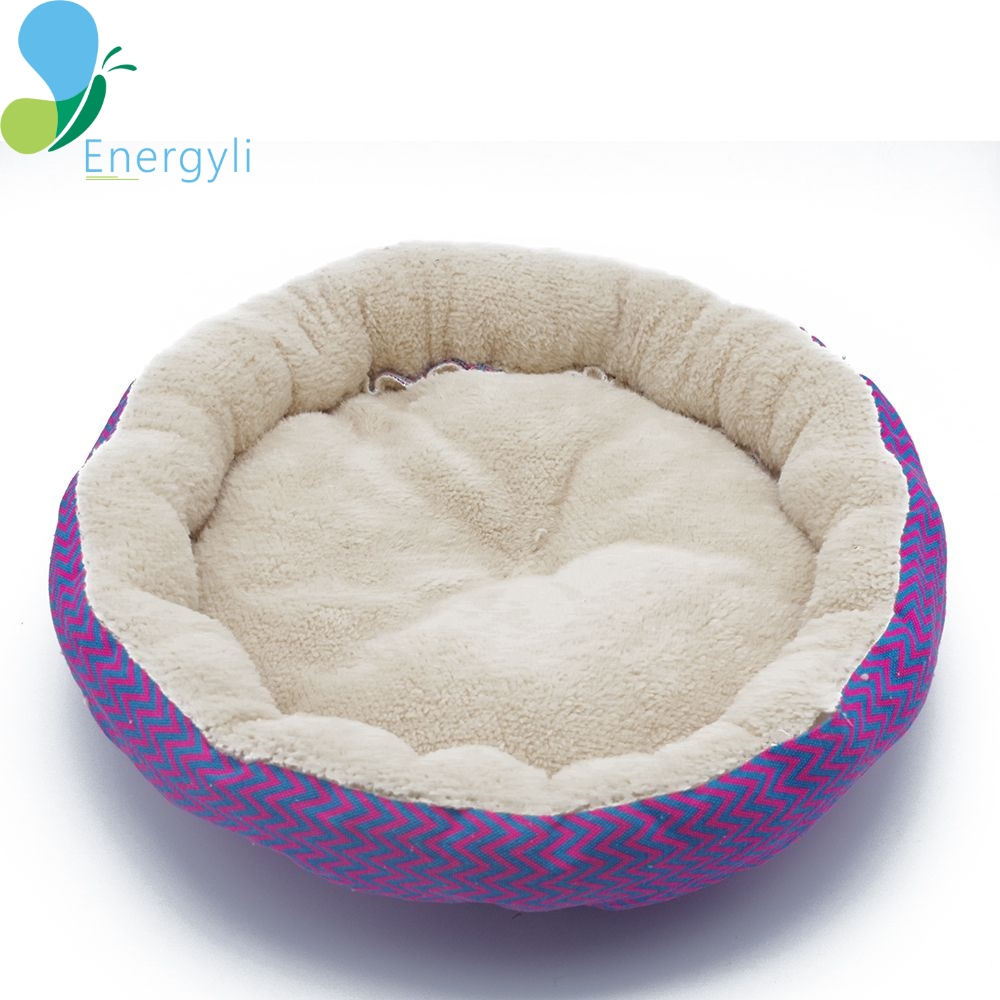 Winter 2 Colors Warm Round Soft Dog House Bed Striped Pet Cat And Dog Sofa ...