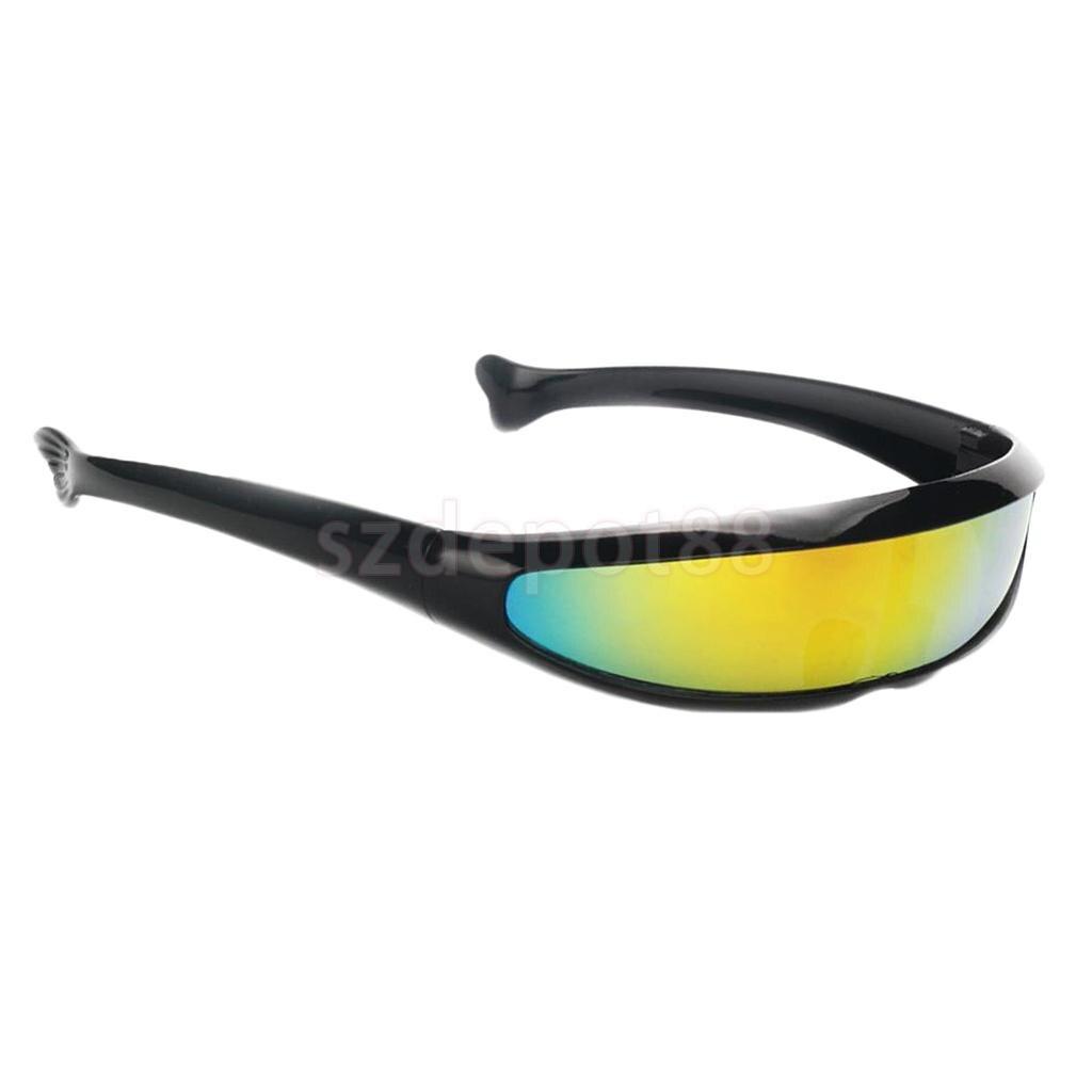 Prettyia 3//pack Novelty Futuristic  Mirrored Sunglasses Party Costume