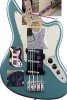 Custom 4 string electric bass guitar 3 pickups in white