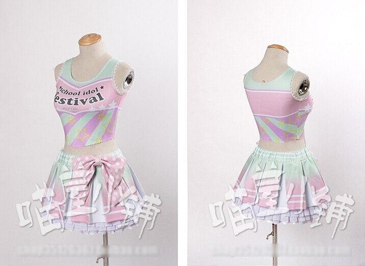 Аниме любовь онлайн! Минами Kotori черлидинг мода лолита платье юбка форма косплей костюм бесплатная доставка