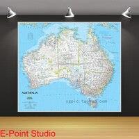 ליבת ציור ציור שמן על בד 100% כותנה אוסטרליה מפה באנגלית