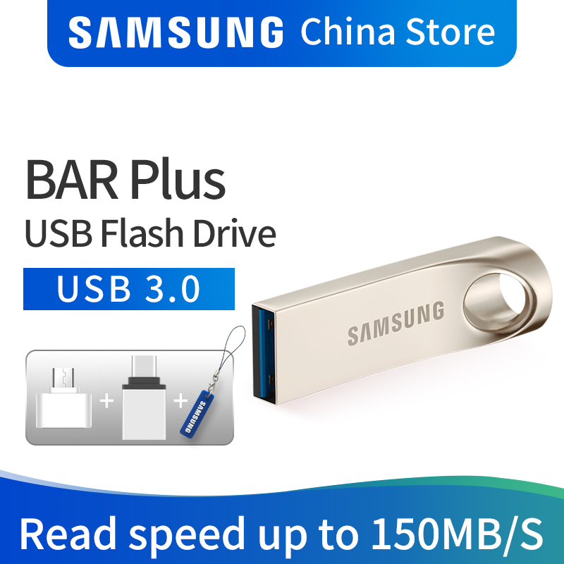 SAMSUNG USB flash drive DISK 32GB 64GB 128GB USB 3.0 Metal Mini pen drive memory stick storage Device U DISK free shipping samsung usb 3 0 flash drive 32gb 64gb 128gb 150mb s metal mini pen drive pendrive memory stick storage device u disk free ship