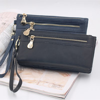 New Women Wallets Coin Case Purse For Phone Card Wallet Leather Purse High Capacity Long Purse