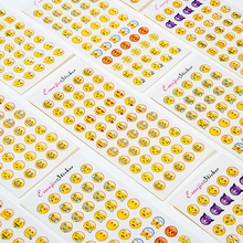 12 Sheet 576 Emoji Stickers Cartoon Smile Face DIY For Notebook Message Twitter Large Viny Instagram Smiling Toys