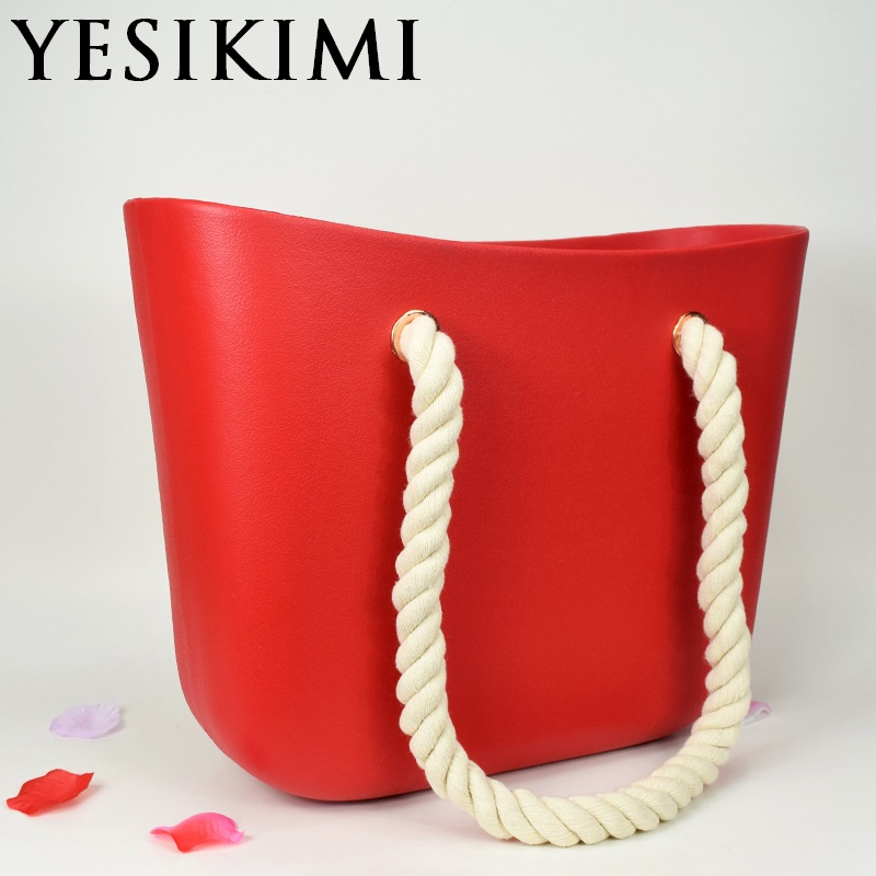 Яркие цвета, Женская силиконовая сумка, повседневная сумка, пляжные кошельки, силикагель, веревка для сумочки, ручка в форме ведра, дизайн Bolsas