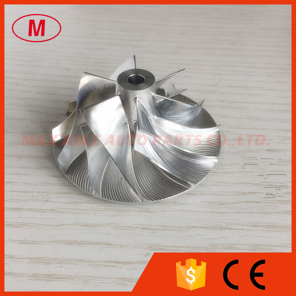 CT10V 38,87/58,01 мм 6 + 6 лезвий 17291-0L040 17201-0L040 турбо заготовка/фрезеровка/алюминиевый 2618 компрессорный круг