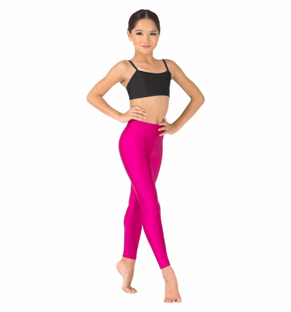 22 Colors Kids High Waisted Leggings For Girls Gymnastics ...
