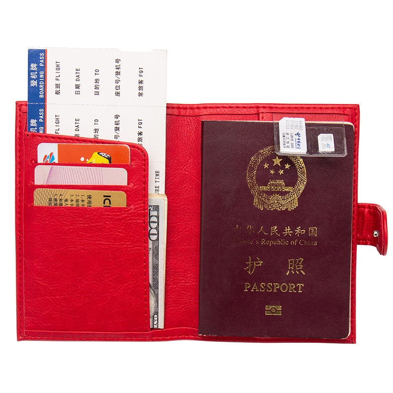 Back To Search Resultsluggage & Bags Card & Id Holders Russian Black Buckle Solid Color Casual Passport Cover Built In Rfid Blocking Protect Personal Information