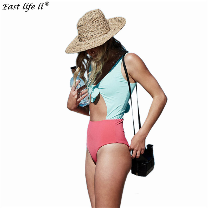 Newest Sexy One Piece Swimsuit Women Swimwear Bowknot Bodysuit Crochet Bandage Cut Out Beach Wear Bathing Suit Monokini Femme high neck one piece swimsuit women high cut thong swimwear sexy bandage trikini hollow out mesh bodysuit female zipper monokini