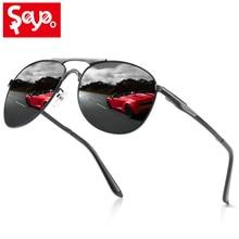 SAYLAYO Fashion Polarized Sunglasses Men Driving Travelling Outdoor Eyewear Black Goggles UV400 Protection With Case недорого