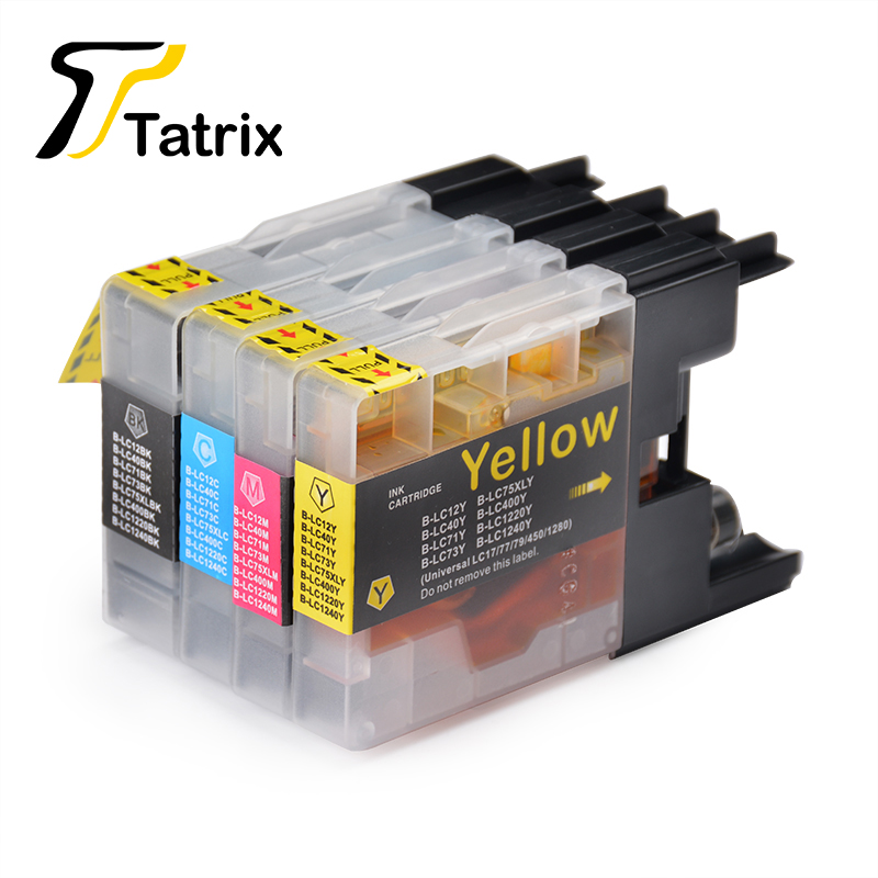 все цены на 4PK LC1240 Ink Cartridge For Brother DCP-J525W J725DW MFC-J430W J625DW J6510DW J6710DW J6910DW J825DW J5910DW Printers онлайн