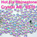 SS10 1440pcs Clear AB Crystal DMC HotFix FlatBack Rhinestones Crystal For Dress Iron on Transfer Garment Glass Stone