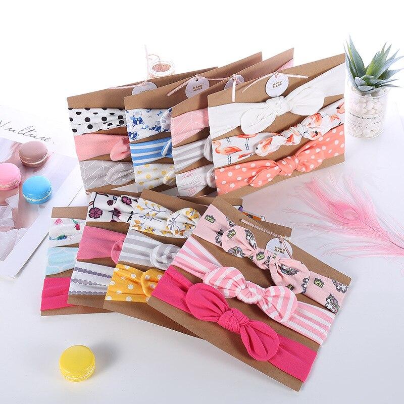 Kinder Stirnband Bogen Für Mädchen Kaninchen Ohr Haarbänder Turban Knoten Kinder Turbane Accessoires Stirnband Baby Mädchen Hohe qualität