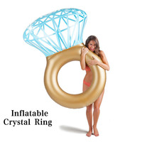 Hot Inflatable Crystal Diamond Swimming Ring Circle Adult Super Large Summer Swimming Pool Party Toy