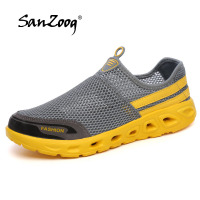 New Design Summer Unisex Style Breathable Mesh Casual Shoes Men Super Light Comfortable Man Flats Outdoor