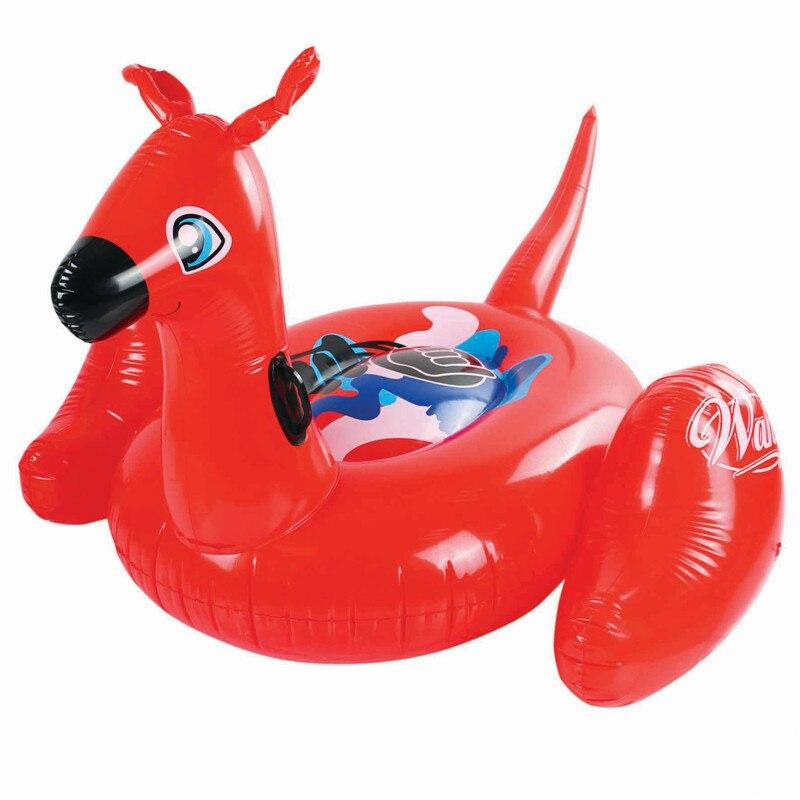 Gonflable Kangourou Enfants Tour sur les Jouets Piscine Float Bébé Animal de Bain De Natation Anneaux Bébé Plage Mer Matelas D'eau Partie Jouets fun