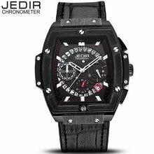 bda77878d6f JEDIR horloges mannen Mens Relógios Pulseira de Couro Relógio de Quartzo  Homens Esporte Militar relógio de Pulso relogio masculi.