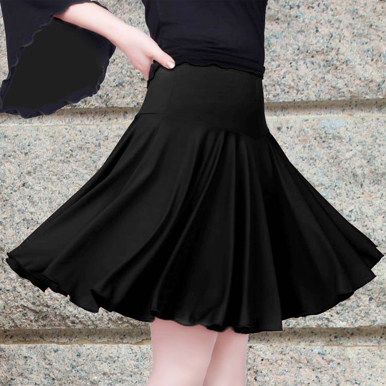 Latin Dance Skirt Woman Costumes Latin Dance Adult Square Dance  Dress Contains Lady Dancewear 3 Color