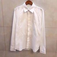 Весенняя белая блузка женская элегантная женская блузка с длинным рукавом Топ 2018 модная блузка для женщин