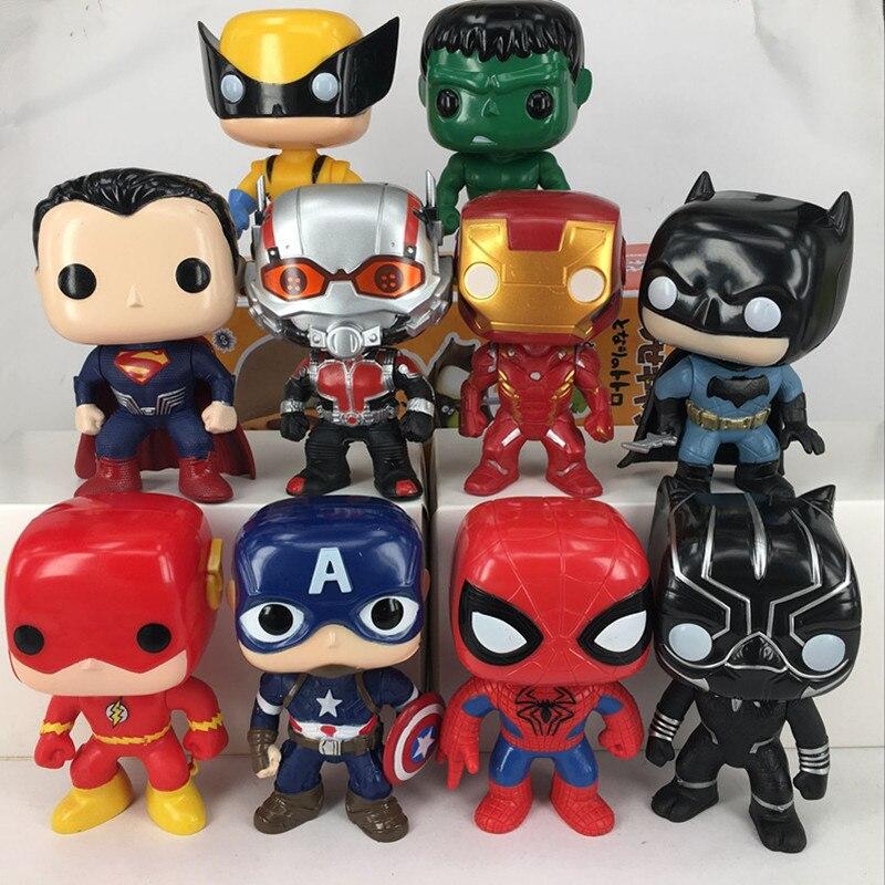 10pcs/set 10cm The Avengers 2 Age Of Ultron Hulk Hawkeye Captain America Thor Batman Ironman Action Figure Toys Gifts For Boy