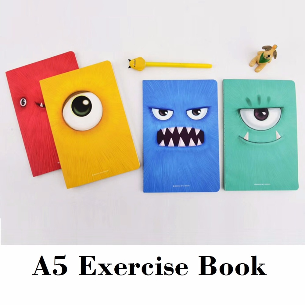 A5 Cute Monster Exercise Book Boy Cute Colorful School Composition Book Zeszyty Szkolne 210*142mm, 44 sheets/ 88 pages gant часы gant w109217 коллекция park hill ii mid stones